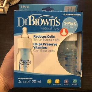 Brand New Dr. Brown's Natural Flow Bottles (3pk)